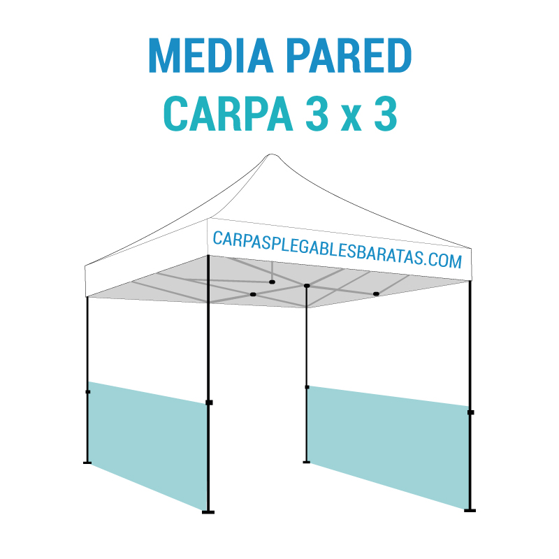 Media pared carpa 3x3 carpas plegables baratas Carpas plegables baratas