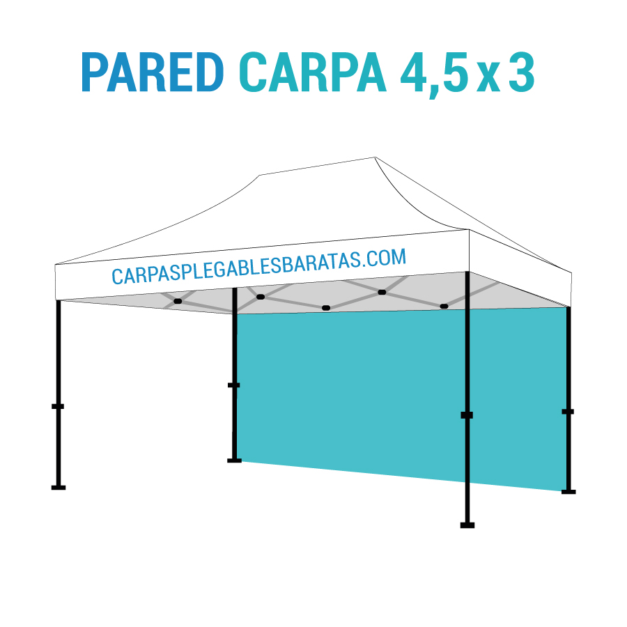 Pared carpa 4 5 x 3 carpas plegables baratas Carpas plegables baratas